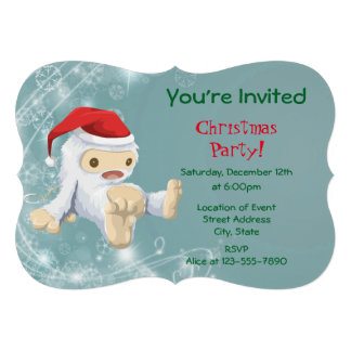 Christmas Party with a Snow Monster Doll Card