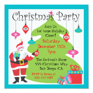 Christmas Party with hanging ornaments Invitation