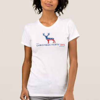"""""""Christmas Party"""" women's American Apparel tee"""