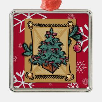 Christmas Past Metal Ornament