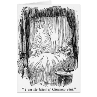 Christmas Past (with text) Greeting Card
