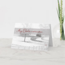 Christmas-Pastor/Family - Horse Ranch-Winter/Snow Holiday Card