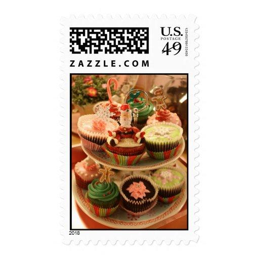 Christmas pastries postage stamp
