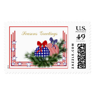 Christmas Patriotic Candles Postage at Zazzle