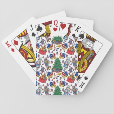 Christmas Patriotic Nutcrackers Playing Cards