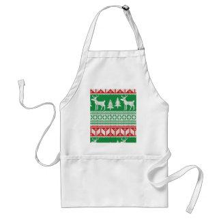 Christmas pattern adult apron