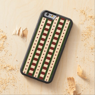 Christmas Pattern Carved® Maple iPhone 6 Bumper