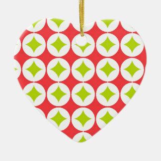 Christmas Pattern Ceramic Ornament