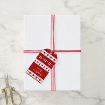 christmas pattern christmas Holidays Gift Tag