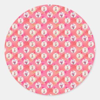 Christmas Pattern Classic Round Sticker