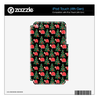 Christmas pattern decals for iPod touch 4G