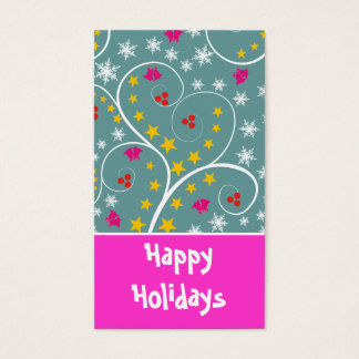 Christmas Pattern Gift Tag-Business Cards