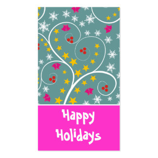 Christmas Pattern Gift Tag-Business Cards Business Card