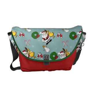 Christmas Pattern Messenger Bag