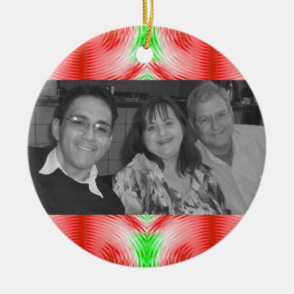 Christmas pattern photoframe ceramic ornament