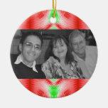 Christmas pattern photoframe christmas tree ornaments