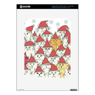 Christmas pattern with a lot of funny cats decals for iPad 3