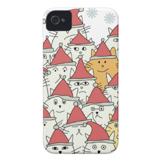 Christmas pattern with a lot of funny cats iPhone 4 Case-Mate case