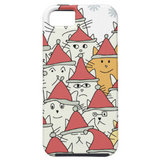 Christmas pattern with a lot of funny cats iPhone SE/5/5s case
