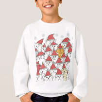 Christmas pattern with a lot of funny cats sweatshirt