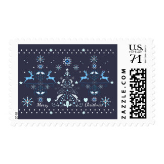 Christmas pattern with custom text postage