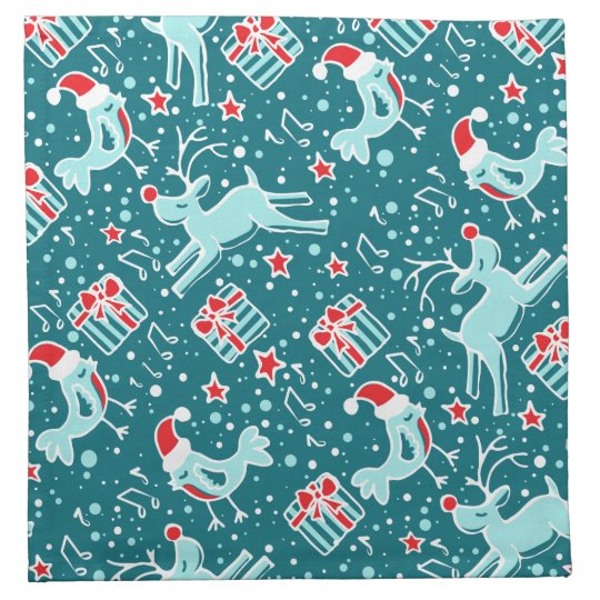 Christmas Patterned Animals Cloth Napkins Zazzle Awesome Patterned Animals