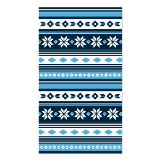 Christmas Patterned Bookmark Business Card