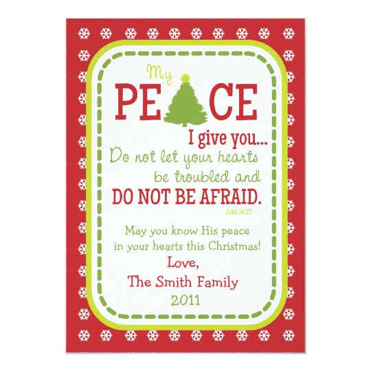 Christmas PEACE 2-Sided Scripture Verse Card