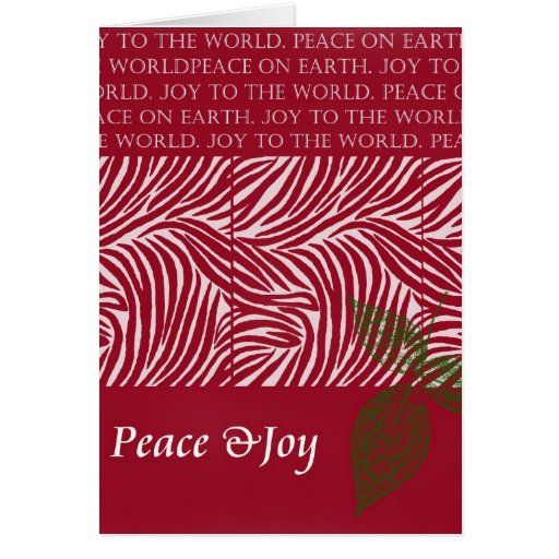 Christmas Peace and Joy Greeting Card
