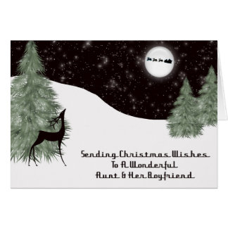Christmas Peace Aunt & Her Boyfriend Card