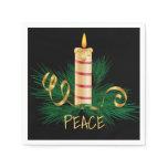 Christmas Peace Candle Napkin