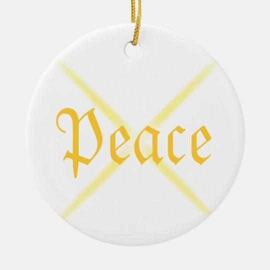 Christmas Peace Ceramic Ornament