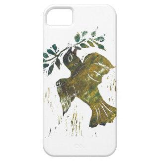 Christmas Peace Dove – Block Print iPhone SE/5/5s Case
