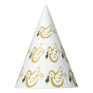 Christmas peace dove party hat