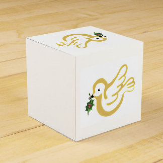 Christmas peace doves favor box