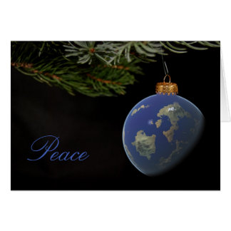 Christmas Peace Globe ornament Card