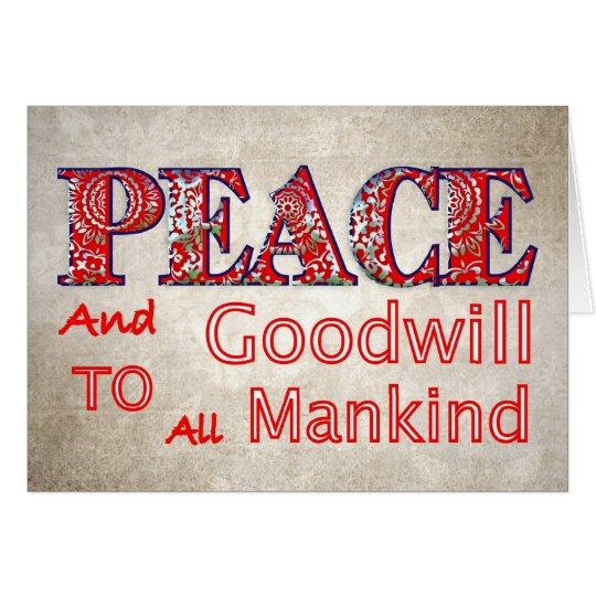 Christmas Peace Goodwill Christmas Holiday Cards