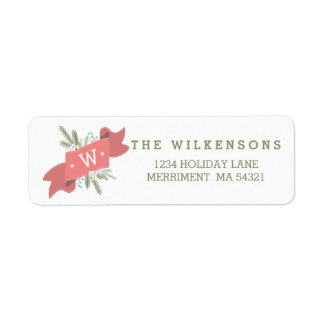 Christmas Peace Holiday Banner Address Label