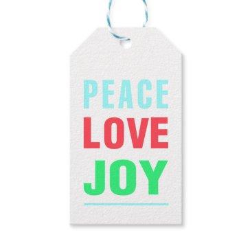 Christmas Themed Christmas Peace Love and Joy Gift Tag