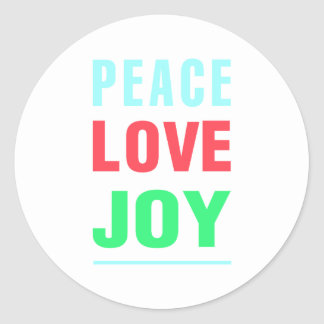Christmas Peace Love Joy Gift wrapping Stickers