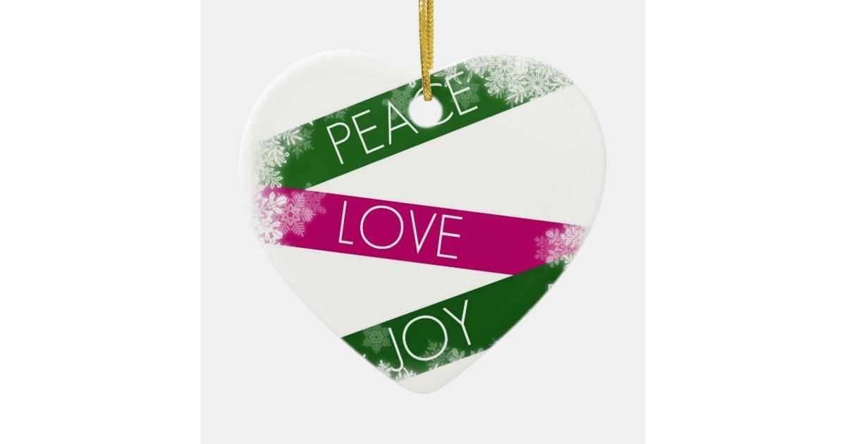 Heart Peace Sign Kids Craft Ornament