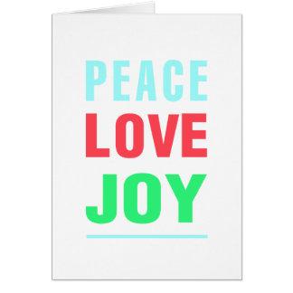 Christmas Peace Love Joy Note Card