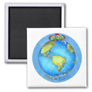 Christmas Peace on Earth 2 Inch Square Magnet