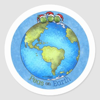 Christmas Peace on Earth sticker