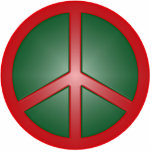 Christmas Peace Sign Acrylic Cut Out