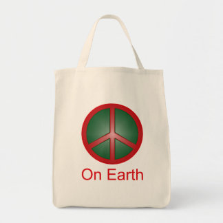 Christmas Peace Sign Bags