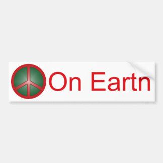 Christmas Peace Sign Bumper Sticker