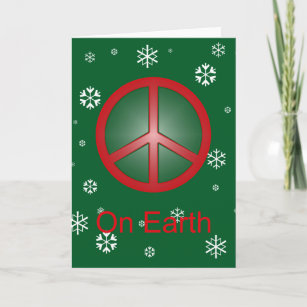 christmas peace sign holiday card - How To Sign A Christmas Card