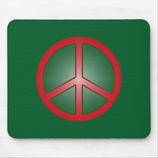 Christmas Peace Sign Mouse Pads