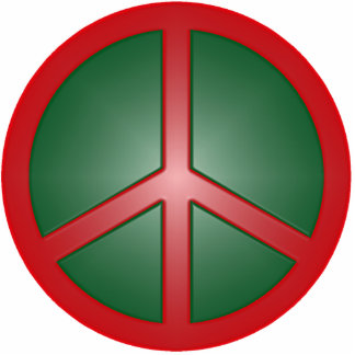 Christmas Peace Sign Statuette